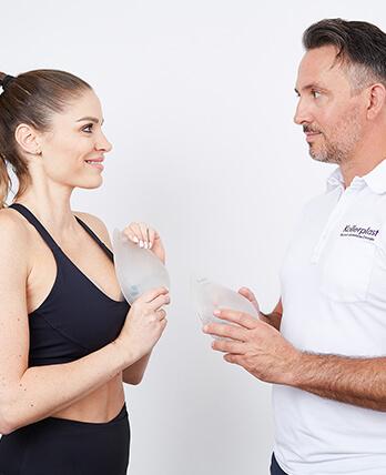 Brust OP / Brustvergrößerung bei Sportlerinnen mit B-Lite Implantate. Brustimplantate OP