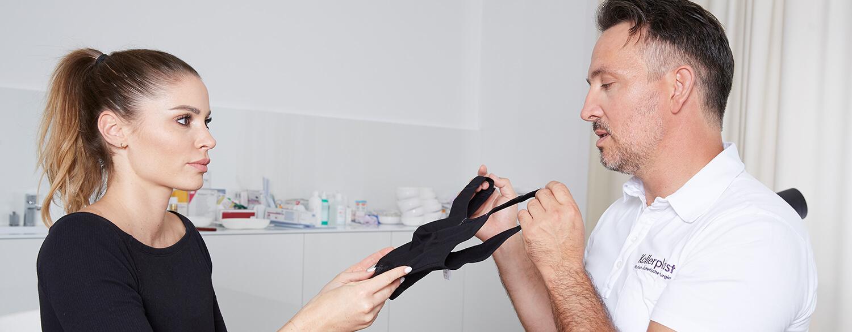 Tubläre Brust, Brustfehlbildung korrigieren. Brustkorrektur, Schlauchbrust Linz OP Dr. Koller. Rüsselbrust korrigieren. Brust OP Linz