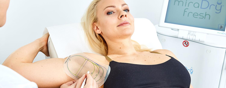 miraDry Behandlung Linz. Behandlung von Hyperhidrose